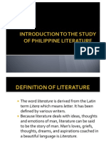 Introduction to Philippine Literature
