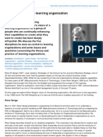Infed.org-Peter Senge and the Learning Organization