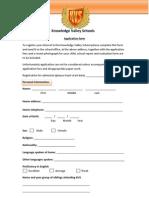KVS Student Application Form