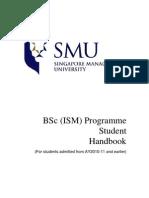 BSc(ISM) Handbook