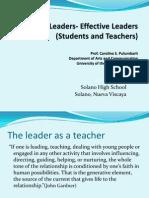 Efficient Leaders - Effective Leaders (Students & Leadrers)