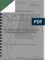 Env Monitoring at Christmas Island