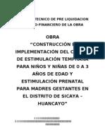 Informe PICED -SICAYA, Liquidacion de Obra Adminis Directa CORREGIDO.doc