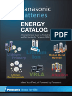 Panasonic Battery Energy Catalog