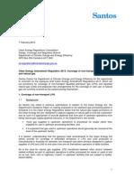 Santos Submission Draft Regulations LPG LNG NG