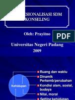 PROFESIONALISASI SDM KONSELING
