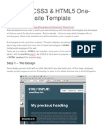 HTML5 Template