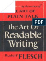 Flesch the Art of Readable Writing
