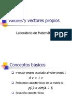 valores y vectores característicos (Met pot)