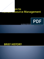 Intro and Background of HR