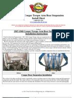 67-68 Cougar Rear TorqueArm