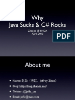 Why Java Sucks and Csharp Rocks