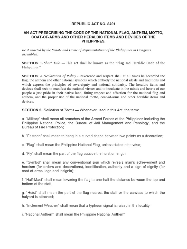 Flag and heradic code of the philippines republic act 8491 flag flag and heradic code of the philippines republic act 8491 flag symbols biocorpaavc Choice Image