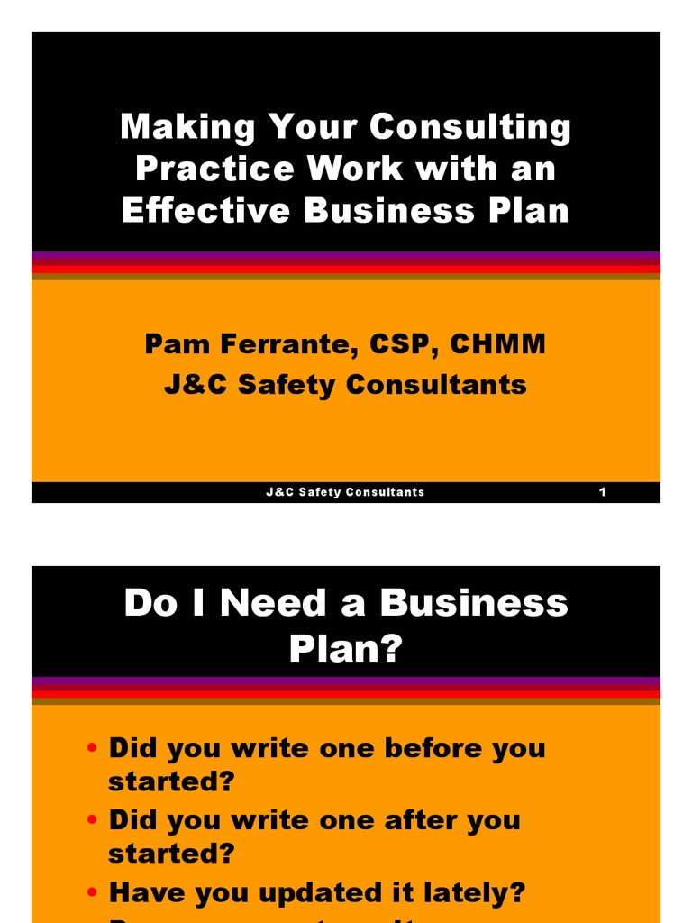 consultancy business plan ppt