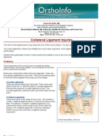 collateral ligament injuries-orthoinfo - aaos