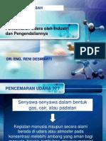 Dasar-Dasar Pengolahan Limbah Gas