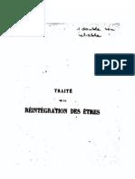 Traité de la réintégration des êtres de Martinès de Pasqually
