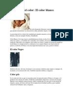 Psicología del color nEGRO gRIS bLANCO