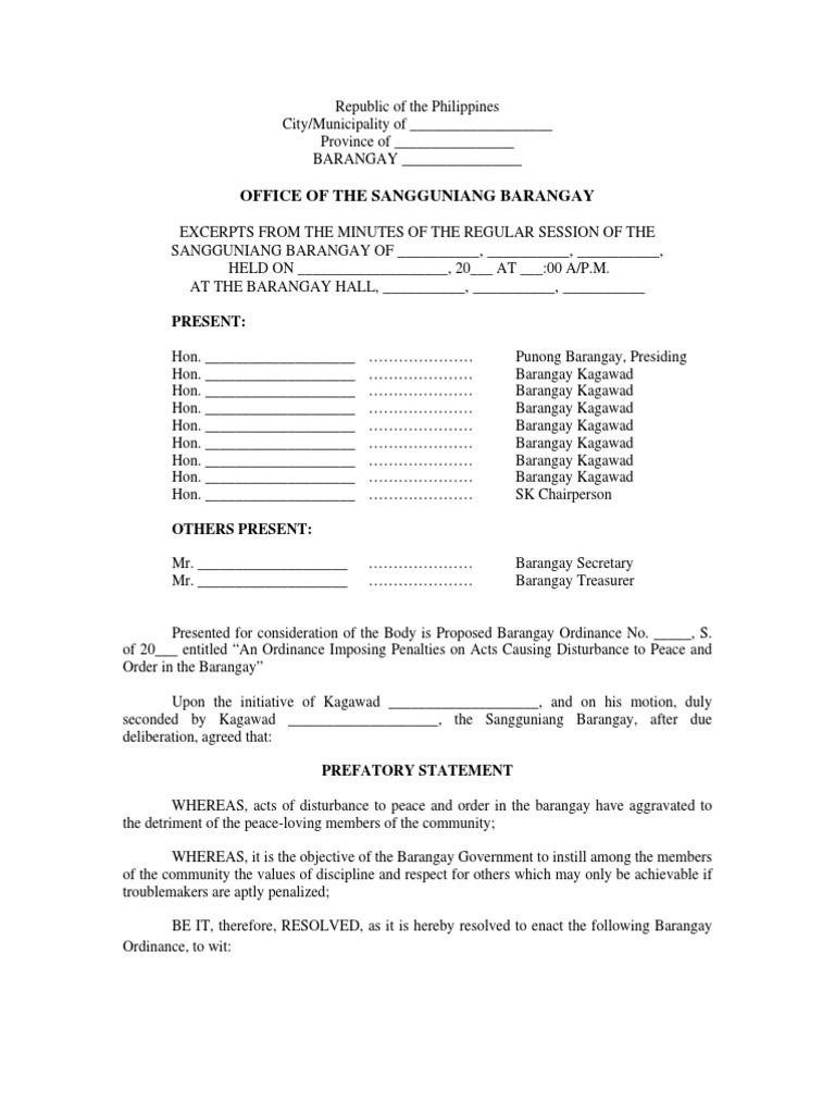 ordinance no 037 s 2013 piggery fine penalty livestock