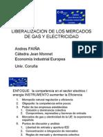 Liberalizacion de Los Mercados de Gas y Electricidad Andres Faina 04-03-2009