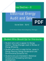 Electrical Energy Audit and Safety