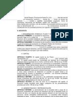 ACTA DE APROBACIÓN DE ESTATUTO-MODELO