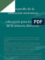 Desarrollo de la educación misionera