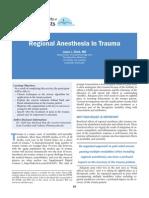 Regional Anesthesia in Trauma