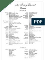 LSQ repertoire list