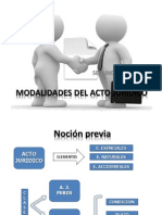 Clase Modalidades de Los Actos Juridicos