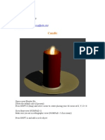 blender candle modeling tutorial