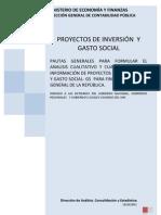 Analisis Cualitativo Cuantitativo Inform. Proy. Invers. - Gasto Social