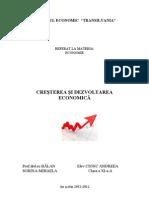 Cresterea Si Dezvoltarea Economica (1)