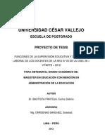 PROYECTO DE TESIS DE SUPERVISIÓN EDUCATIVA