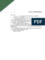 Acusa Extemporaneidad Modelo