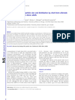 Improvements in LDL Particle Size and Distribution by Short-term