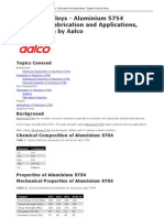 Aluminium Alloys Aluminium 5754 Properties Fabrication and Applications Supplier Data by Aalco