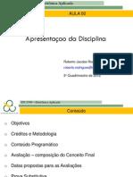 00 Apresentacao Da Disciplina 2012 3