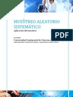 MUESTREO ALEATORIO SISTEMÁTICO monografia