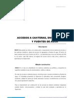 104 Accesos a Canteras,DME,Plantas y Fuentes de Agua