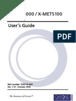 X-MET5000 and 5100 User Manual Rev110 October 2009