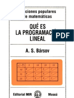 Que Es La Programacion Lineal