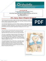 acl injury surgery - orthoinfo - aaos