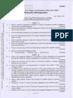 VTU Material Management Question Paper06IM63 (2)