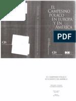 Thomas, William y Znaniecki, Florian. El Campesio polaco en Europa y América