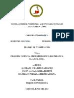 Filosofia y Ciencia-Informe
