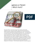 False Allegations or Parent Alienation Witch Hunt
