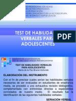 Test de Habilidades Verbales Para Adolescentes