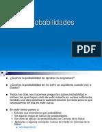 Probabilidades Aplicadas a La Medicina 2013