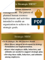 Strategic Human Resource Mangement